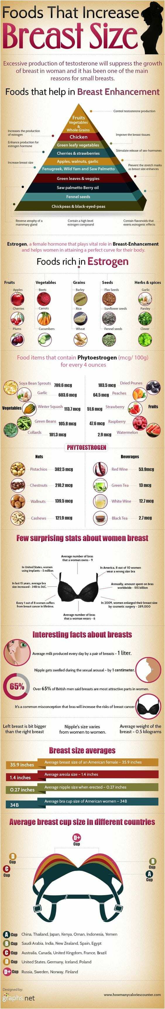 how to increase breast by food